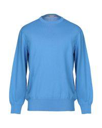 Pullover Andrea Fenzi de hombre de color Blue