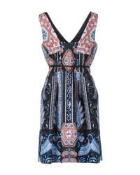 Class Roberto Cavalli Blue Short Dress