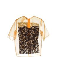 Blouse MSGM en coloris Multicolor
