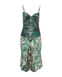 Roberto Cavalli - Green Knee-length Dresses - Lyst
