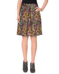 L'Autre Chose - Green Knee Length Skirt - Lyst