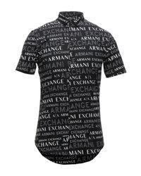 Camicia di Armani Exchange in Black da Uomo