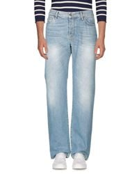 7 For All Mankind Blue Denim Trousers for men