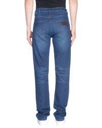 Wrangler Blue Denim Trousers for men