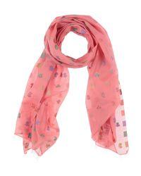 Étole Maliparmi en coloris Pink