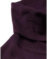 P.Johnson Rollkragenpullover in Purple für Herren