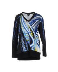Just Cavalli - Blue Sweatshirt - Lyst