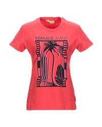 T-shirt di Versace in Red