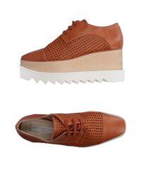 Stella McCartney Brown Lace-up Shoe