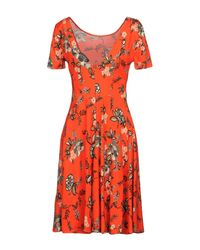 Twin Set Red Short Dress