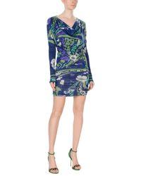 Emilio Pucci - Blue Short Dress - Lyst