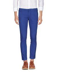 Entre Amis Blue Casual Pants for men