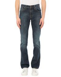 Nudie Jeans Blue Denim Trousers for men