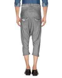 Thom Krom Gray 3/4-length Trousers for men