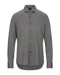 Camicia di Sonrisa in Gray da Uomo