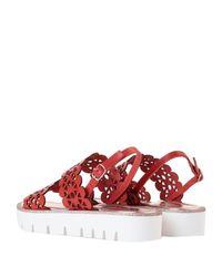 Pollini Red Sandals