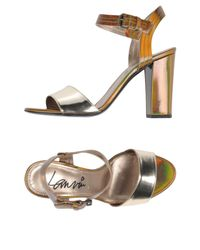 Lanvin Metallic Sandals