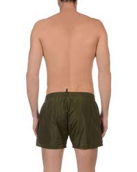DSquared² Green Swimming Trunks for men