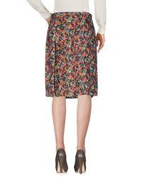 Siyu Brown Knee Length Skirt