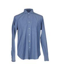 Aspesi Blue Shirt for men