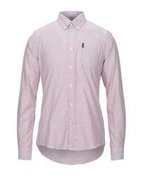 Camisa Barbour de hombre de color White