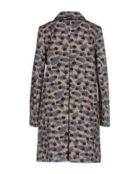 Twin Set Gray Overcoat