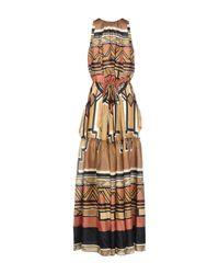 Alberta Ferretti Multicolor Long Dress