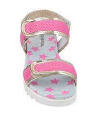DIESEL Pink Sandale