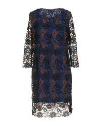 Hanita Blue Short Dress