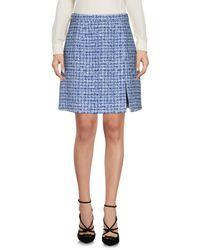 Michael Kors Blue Knee Length Skirt