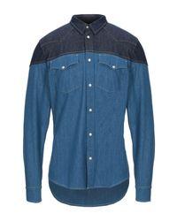 Alexander McQueen Blue Denim Shirt for men