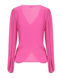Space Style Concept Pink Bluse