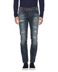 Entre Amis Blue Denim Trousers for men