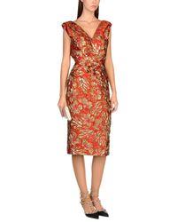 Prada Red Knee-length Dress