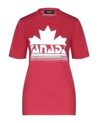 T-shirt di DSquared² in Red