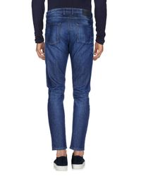 Officina 36 - Blue Denim Pants for Men - Lyst