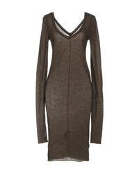 Isabel Benenato Green Knee-length Dress