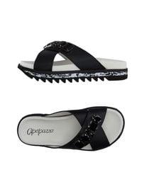 Apepazza Black Sandals