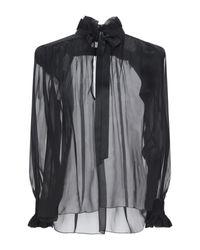 Blouse Saint Laurent en coloris Black