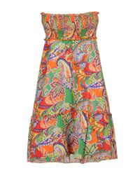 Robe courte Polo Ralph Lauren en coloris Orange