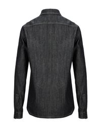 Camicia jeans di Rick Owens Drkshdw in Black da Uomo