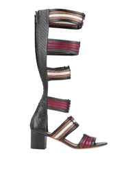 Santoni Black Sandals