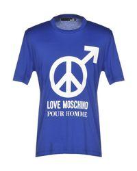 Love Moschino Blue T-shirt for men