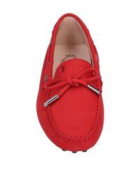 Mocassins Tod's en coloris Red