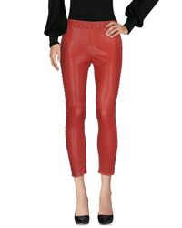 Isabel Marant Red Casual Pants