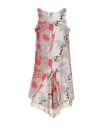 Manila Grace Gray Short Dress