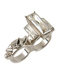 McQ Alexander McQueen - Metallic Ring - Lyst