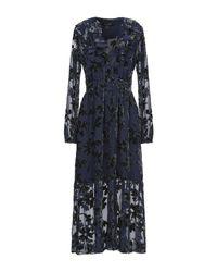 Robe mi-longue Saloni en coloris Blue
