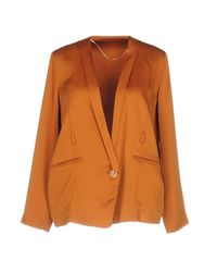 Pinko - Orange Blazer - Lyst