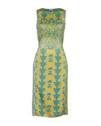 M Missoni Yellow Knee-length Dress